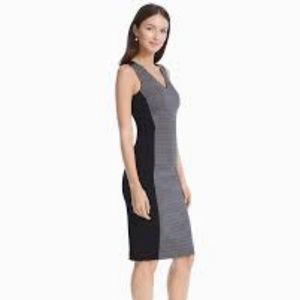 WHBM Colorblock Plaid Sheath Dress